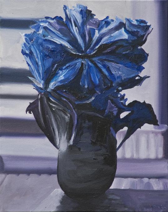 Angry-Flower-Blue-2020-51X40cm-acryl-canv